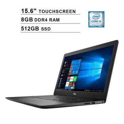 Dell Inspiron 3000 (15.6 Inch (1366×768) Touchscreen/8th Gen Intel Core i3 8145U/8GB RAM/512GB SSD/Windows 10/Intel UHD Graphics 620)