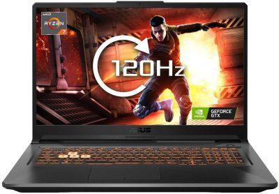 Asus TUF Gaming A17 FA706IU-H7022T (17.3 Inch 120Hz FHD/AMD Ryzen 7 4800H/8GB RAM/512GB SSD/Nvidia GTX 1660Ti 6GB Graphics/Windows 10)