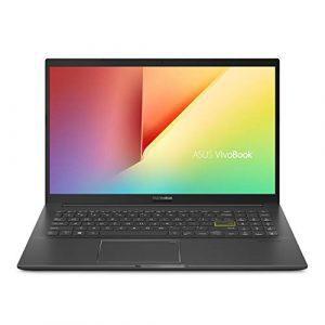 "ASUS VivoBook 15 K513 Thin & Light Laptop, 15.6"" FHD Display, Intel i7-1165G7 CPU, NVIDIA GeForce MX350, 16GB DDR4, 256GB SSD + 1TB HDD, Fingerprint Reader, Windows 10 Home, Indie Black, K513EQ-PH77"
