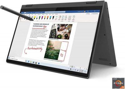 Lenovo Flex 5 14 81X20005US 2in1 (14 Inch 60Hz FHD Touchscreen/AMD Ryzen 5 4500U/16GB RAM/256GB SSD/AMD Vega 6 Graphics/Windows 10)