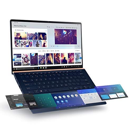 Asus ZenBook 14 Ultra-Slim UX434FL-DB77 (14 Inch 60Hz FHD/Dual Screen/8th Gen Intel Core i7 8565U/16GB RAM/512GB SSD/Nvidia Mx250 2GB Graphics/Windows 10 Pro)